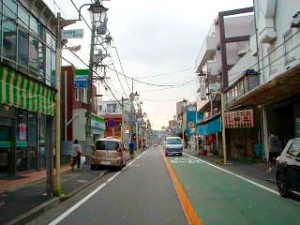 和田町駅から藤江眼科医院への水道道